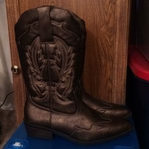 $20 cato bronze finish cowboy cowgirl boots